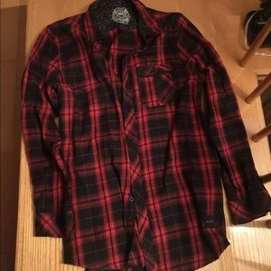 Other - Men's plaid shirt with zippers in the side XL